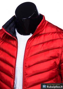 Moderni rudeninė pavasarinė raudona vyriška striukė vyrams Keison internetu pigiau C344R apykaklė