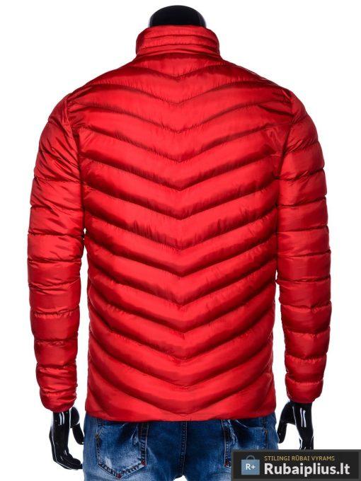 Moderni rudeninė pavasarinė raudona vyriška striukė vyrams Keison internetu pigiau C344R nugara