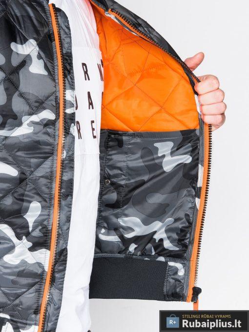 Stilinga pilka kamufliažinė pavasarinė vyriška striukė vyrams internetu pigiau C357PCAM vidus žmogus