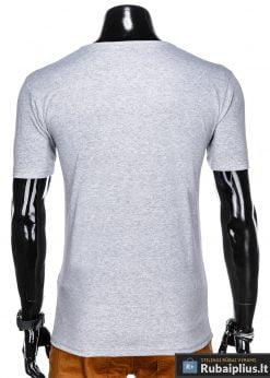 Stilingi pilki vyriškimarškinėliai suužrašais Denim vyrams internetu pigiau S1054P