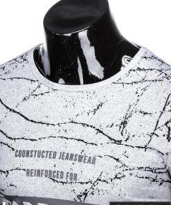 Stilingi pilki vyriškimarškinėliai suužrašais Reinfo vyrams internetu pigiau S1029P apykaklė