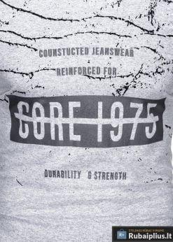 Stilingi pilki vyriškimarškinėliai suužrašais Reinfo vyrams internetu pigiau S1029P priekis ar�iau