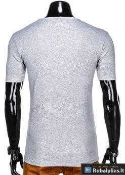 Stilingi pilki vyriškimarškinėliai suužrašais Reinfo vyrams internetu pigiau S1029P nugara