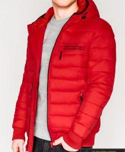 Madinga raudona rudeninė-pavasarinė vyriška striukė vyrams Dorsi internetu pigiau C353R kairė