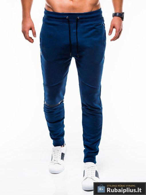 Vyriskos sodriai mėlynos sportinės kelnės vyrams internetu pigiau P743MT priekis