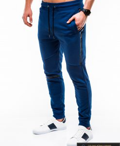 Vyriskos sodriai mėlynos sportinės kelnės vyrams internetu pigiau P743MT kairė