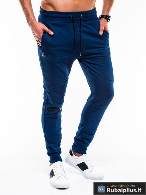 Vyriskos sodriai mėlynos sportinės kelnės vyrams internetu pigiau P743MT dešinė