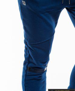 Vyriskos sodriai mėlynos sportinės kelnės vyrams internetu pigiau P743MT koja