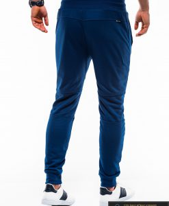 Vyriskos sodriai mėlynos sportinės kelnės vyrams internetu pigiau P743MT nugara