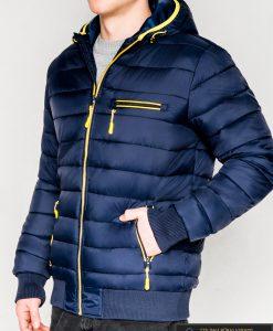 Madinga tamsiai mėlyna rudeninė-pavasarinė vyriška striukė vyrams Dorsi internetu pigiau C353TM kairė