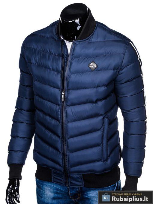 Stilinga tamsiai mėlyna rudeninė-pavasarinė vyriška striukė vyrams Horton internetu pigiau C378TM kairė