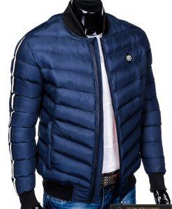 Stilinga tamsiai mėlyna rudeninė-pavasarinė vyriška striukė vyrams Horton internetu pigiau C378TM dešinė