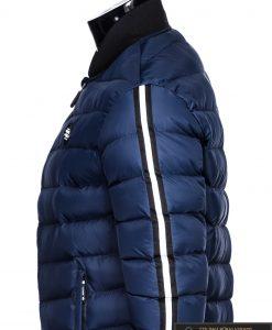 Stilinga tamsiai mėlyna rudeninė-pavasarinė vyriška striukė vyrams Horton internetu pigiau C378TM šonas