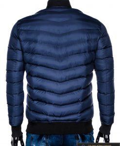 Stilinga tamsiai mėlyna rudeninė-pavasarinė vyriška striukė vyrams Horton internetu pigiau C378TM nugara
