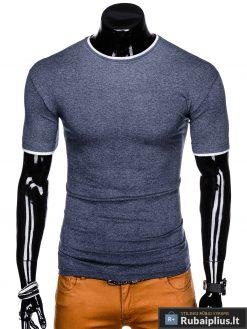Tamsiai mėlyni vyriški marškinėliai vyrams Todo internetu pigiau S1033STM priekis