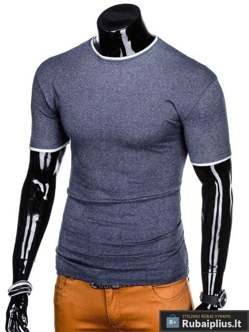 Tamsiai mėlyni vyriški marškinėliai vyrams Todo internetu pigiau S1033STM kairė