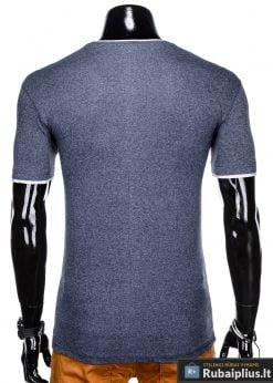 Tamsiai mėlyni vyriški marškinėliai vyrams Todo internetu pigiau S1033STM nugara