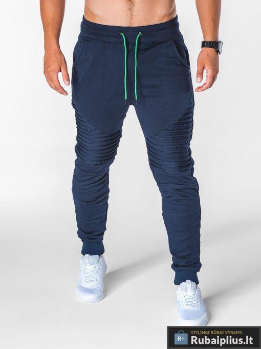 stilingos vyriskos tamsiai mėlynos sportinės kelnės vyrams Ding internetu pigiau P644TM