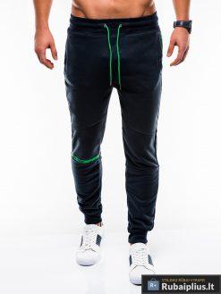 Vyriskos tamsiai mėlynos sportinės kelnės vyrams internetu pigiau P743TM priekis
