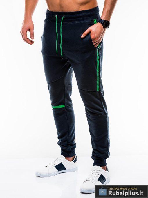 Vyriskos tamsiai mėlynos sportinės kelnės vyrams internetu pigiau P743TM kairė