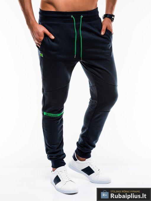 Vyriskos tamsiai mėlynos sportinės kelnės vyrams internetu pigiau P743TM dešinė