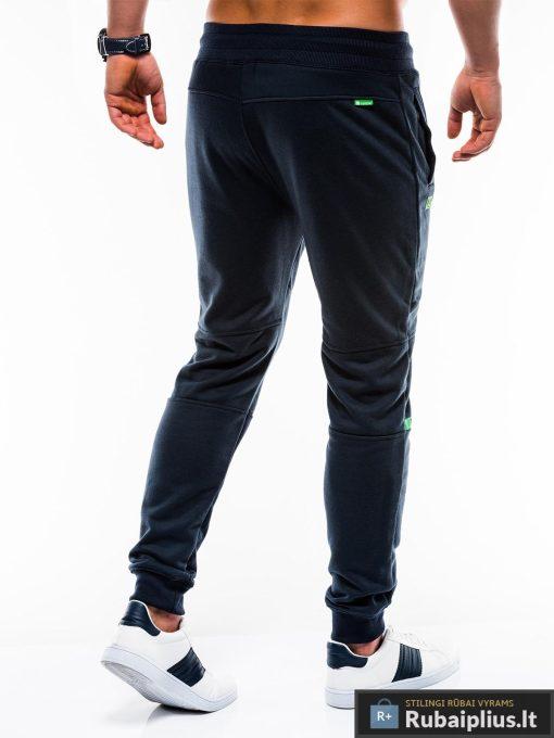 Vyriskos tamsiai mėlynos sportinės kelnės vyrams internetu pigiau P743TM nugara
