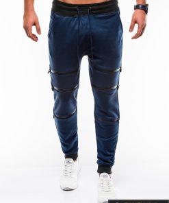 Tamsiai mėlynos vyriškos sportinės kelnės internetu pigiau P746TM priekis