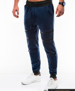 Vyriskos tamsiai mėlynos sportinės kelnės vyrams internetu pigiau P746TM kairė
