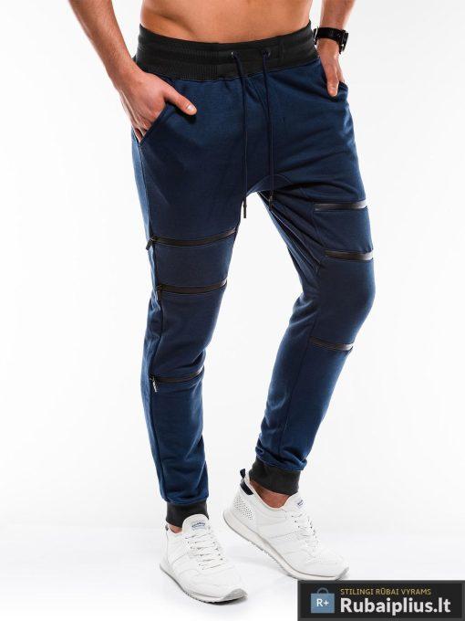 Vyriskos tamsiai mėlynos sportinės kelnės vyrams internetu pigiau P746TM dešinė