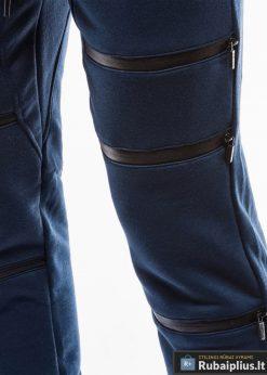 Vyriskos tamsiai mėlynos sportinės kelnės vyrams internetu pigiau P746TM koja