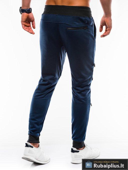 Vyriskos tamsiai mėlynos sportinės kelnės vyrams internetu pigiau P746TM nugara