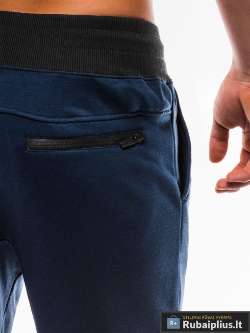 Vyriskos tamsiai mėlynos sportinės kelnės vyrams internetu pigiau P746TM kišenė