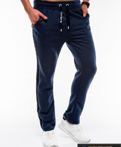 Vyriskos tamsiai mėlynos sportinės kelnės vyrams internetu pigiau P741TMdešinė