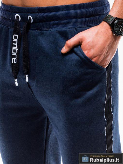 Vyriskos tamsiai mėlynos sportinės kelnės vyrams internetu pigiau P741TM kišenė