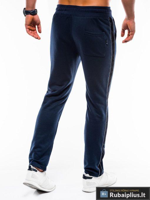 Vyriskos tamsiai mėlynos sportinės kelnės vyrams internetu pigiau P741TM nugara