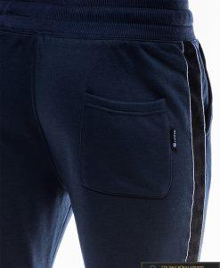 Vyriskos tamsiai mėlynos sportinės kelnės vyrams internetu pigiau P741TM nugara kišenė