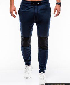 Stilingos vyriskos tamsiai mėlynos sportinės kelnės vyrams Zerk internetu pigiau P745TM priekis