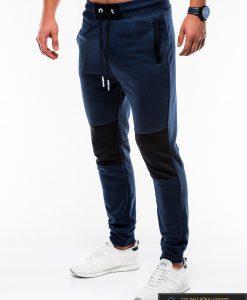 Stilingos vyriskos tamsiai mėlynos sportinės kelnės vyrams Zerk internetu pigiau P745TM kairė