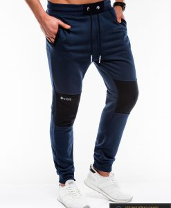 Stilingos vyriskos tamsiai mėlynos sportinės kelnės vyrams Zerk internetu pigiau P745TM dešinė