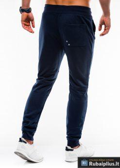 Stilingos vyriskos tamsiai mėlynos sportinės kelnės vyrams Zerk internetu pigiau P745TM nugara