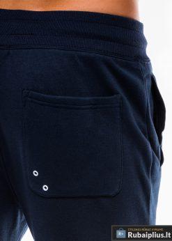 Stilingos vyriskos tamsiai mėlynos sportinės kelnės vyrams Zerk internetu pigiau P745TM nugara kišenė