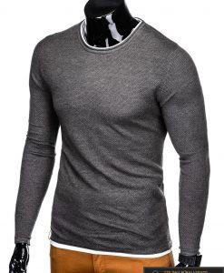 Madingas tamsiai pilkas-melanžinis vyriškas megztinis vyrams Dreg internetu pigiau E121TPM antra