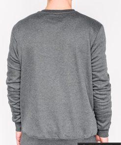 Tamsiai pilkas vyriškas džemperis su aplikacija vyrams Hud internetu pigiau B940TP nugara