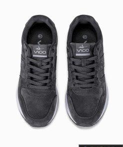 stilingi vyriski laisvalaikio Tamsiai pilki sportiniai batai vyrams