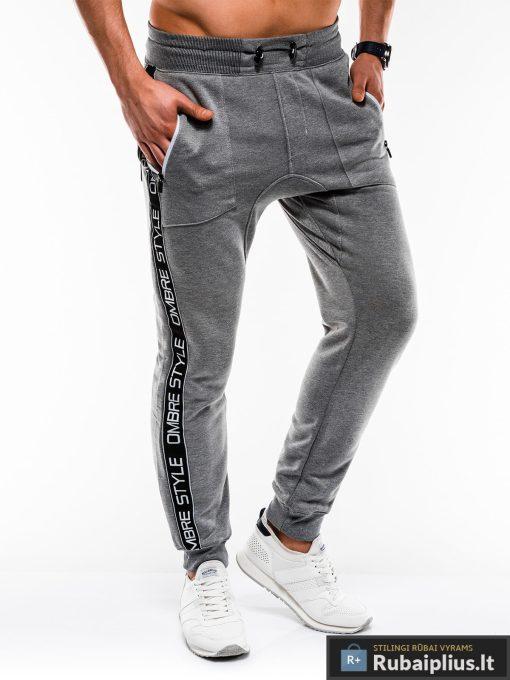 Stilingos vyriskos tamsiai pilkos sportinės kelnės vyrams Ostyle internetu pigiau P744TP dešinė
