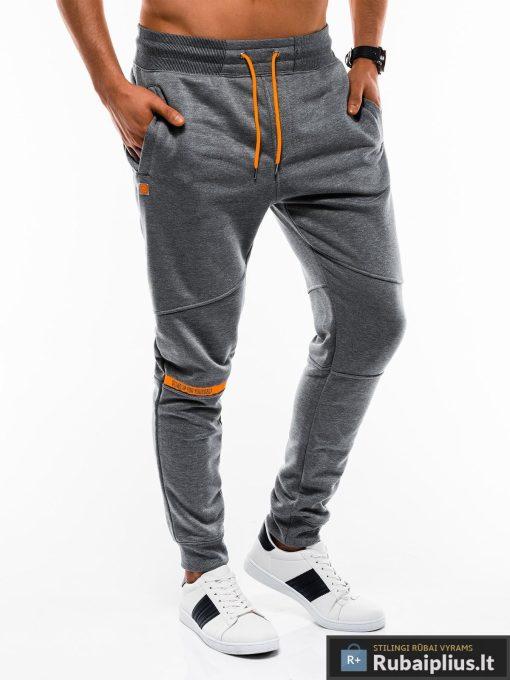 Vyriskos tamsiai pilkos sportinės kelnės vyrams internetu pigiau P743TP dešinė