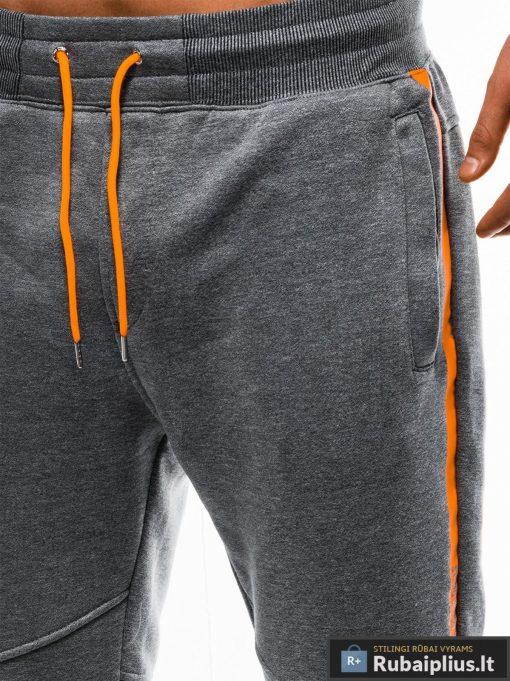 Vyriskos tamsiai pilkos sportinės kelnės vyrams internetu pigiau P743TP kišenė