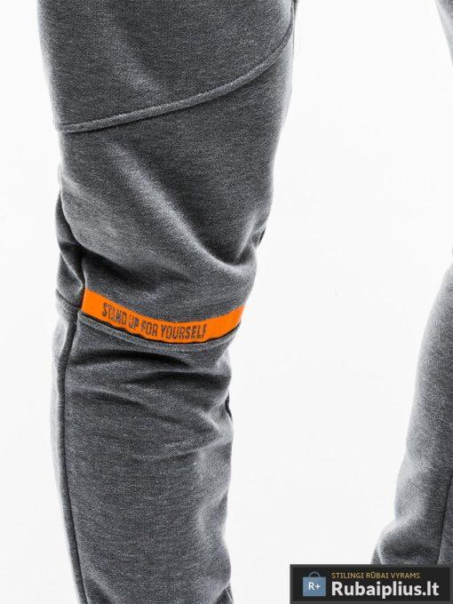 Vyriskos tamsiai pilkos sportinės kelnės vyrams internetu pigiau P743TP koja
