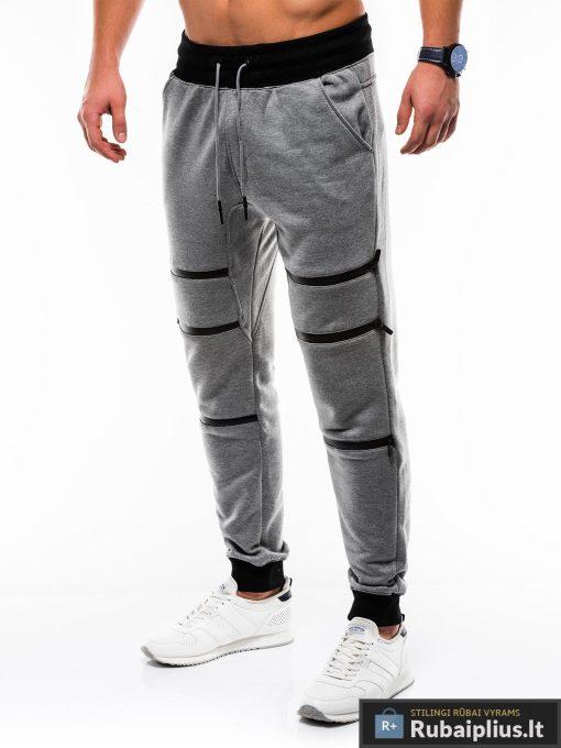 Vyriskos tamsiai pilkos sportinės kelnės vyrams internetu pigiau P746TP kairė