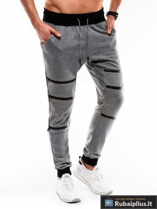 Vyriskos tamsiai pilkos sportinės kelnės vyrams internetu pigiau P746TP dešinė